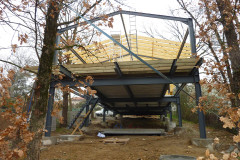 Maison Si en construction, vue structures