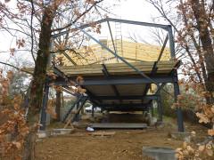 Maison Si en construction, vue structures